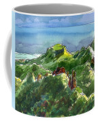 Rarotonga, Te Kou Mountain View Coffee Mug by Judith Kunzle