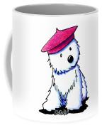 Raspberry Beret Westie Coffee Mug
