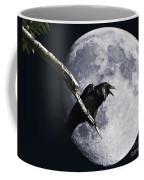 Raven Barking At The Moon Coffee Mug