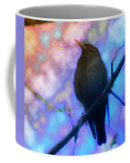 Raven In Spring Coffee Mug