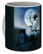 Raven Landing On Branch In Moonlight Coffee Mug