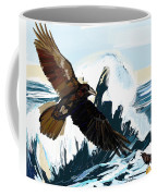 Ravens And The Stormy Sea Coffee Mug