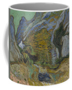 Ravine With A Small Stream Saint Remyde Provence  October 1889 Vincent Van Gogh 1853  1890 Coffee Mug