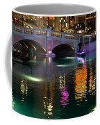 Razzle Dazzle - Colorful Neon Lights Up Canals And Gondolas At The Venetian Las Vegas Coffee Mug