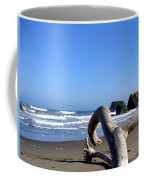 Reaching Back To The Sea Coffee Mug