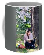 Reading Beneath The Cherry Blossoms Coffee Mug