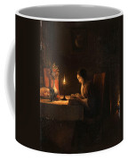 Reading By Candlelight Coffee Mug