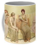 Reading The Story Of Oenone Coffee Mug by Francis Davis Millet