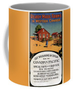 Ready Made Farms In Western Canada - Canadian Pacific - Retro Travel Poster - Vintage Poster Coffee Mug