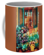 Ready To Water The Garden Oil Painting Coffee Mug