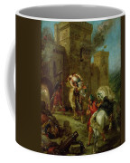 Rebecca Kidnapped By The Templar Coffee Mug by Ferdinand Victor Eugene Delacroix
