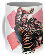 Reclined Striped And Symbolic  Coffee Mug