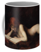 Reclining Nude Woman Reading A Book  Coffee Mug