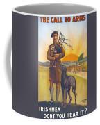 Recruitment Poster The Call To Arms Irishmen Dont You Hear It Coffee Mug