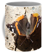 Red Admiral Close Coffee Mug