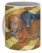 Red And Black Dachshunds - Best Buds Coffee Mug