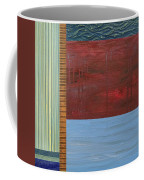 Red And Blue Study Coffee Mug by Michelle Calkins