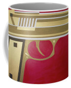Red And Gold Gun  Coffee Mug