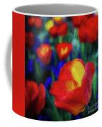 Red And Orange Tulips Coffee Mug