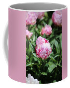 Red And Pink Peony Coffee Mug