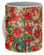 Red And Pink Poppies. Coffee Mug