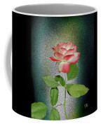 Red And White Rose5 Cutout Coffee Mug