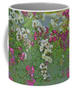 Red And White Roses Bright Toned Abstract Coffee Mug