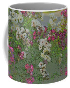 Red And White Roses  Medium Toned Abstract Coffee Mug