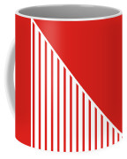 Red And White Triangles Coffee Mug by Linda Woods