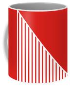 Red And White Triangles Coffee Mug