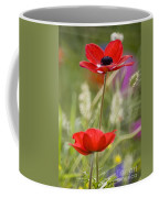 Red Anemone Coronaria In Nature Coffee Mug