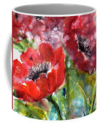 Red Anemone Flowers Coffee Mug