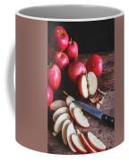 Red Apple Slices Coffee Mug