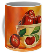 Red Apples In Vintage Watt Yellowware Bowl Coffee Mug