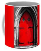 Red Arched Door Coffee Mug