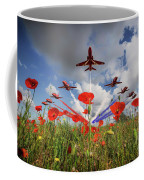 Red Arrows Poppy Fly Past Coffee Mug