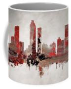 Red Atlanta Georgia Skyline Coffee Mug