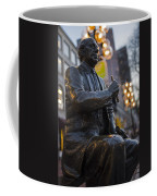 Red Auerbach Chilling At Fanueil Hall Side Coffee Mug