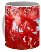Red Autumn Leaves Art Prints Canvas Fall Leaves Baslee Troutman Coffee Mug