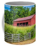 Red Barn Along The Fence Coffee Mug