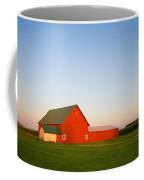 Red Barn And The Moon Coffee Mug