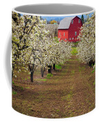 Red Barn Avenue Coffee Mug by Mike  Dawson