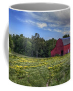 Red Barn In A Yellow Field  Coffee Mug