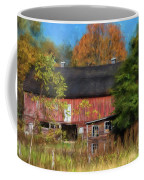 Red Barn In October Coffee Mug