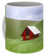Red Barn In Spring Coffee Mug