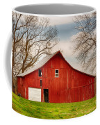 Red Barn In The Blue Sky Coffee Mug