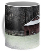 Red Barn On The Drive Coffee Mug