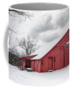 Red Barn On Wintry Day Coffee Mug