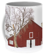 Red Barn Winter Country Landscape Coffee Mug by James BO  Insogna