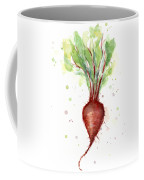 Red Beet Watercolor Coffee Mug
